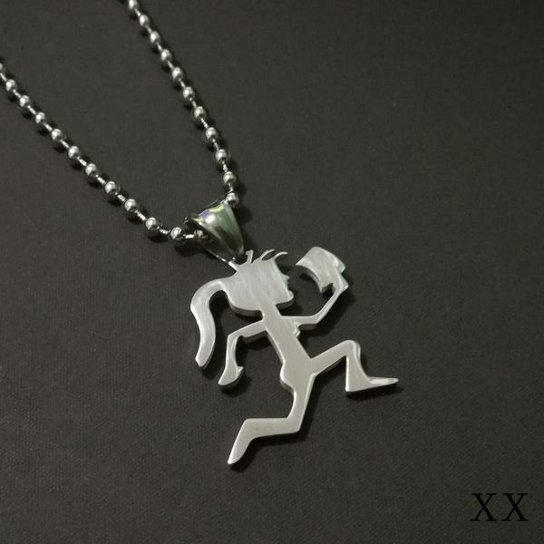 Steel, Charm, ballchainnecklace, Stainless Steel