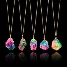 goldplated, rainbow, quartz, gold