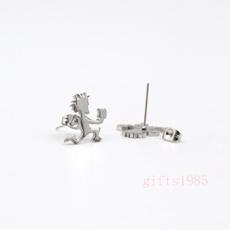 Steel, polished, Jewelry, Stud Earring