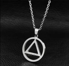 Steel, Triangles, Jewelry, eminemmennecklace