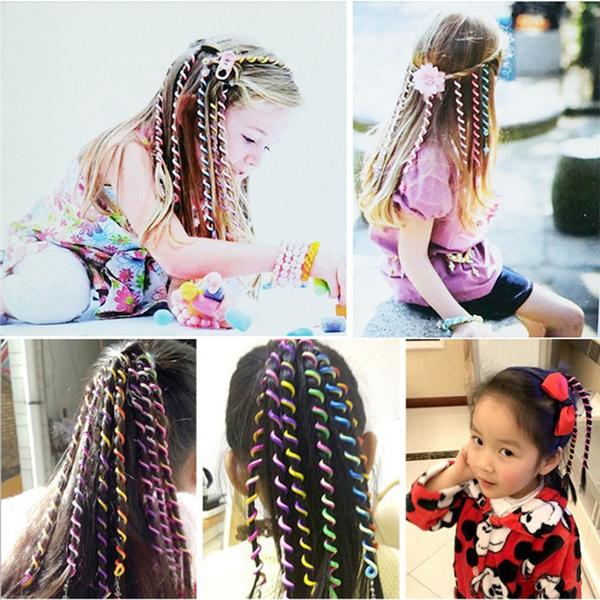 Hair Curlers Hair Sticker Kids Curler Hair Decorations For Girl Hair Braid KS