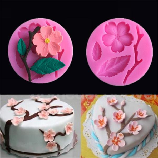 Flowers, Baking, peach, chocolatemold