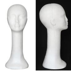wig, Head, femalemannequin, manikinheadstand