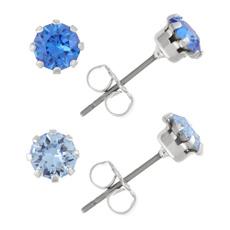 Blues, Set, Jewelry, Stud Earring