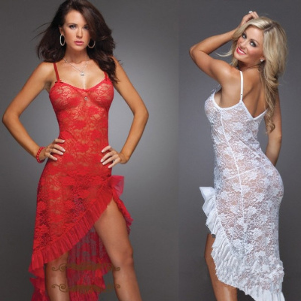 Fashion, irregulardres, Lace, long dress