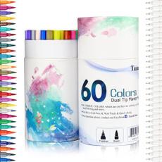 dualtipmarkerpen, case, 60color, colorpen