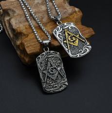 Steel, masonic, Necklace, Vintage