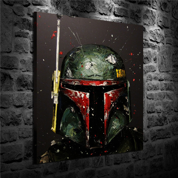 Home Decor, art, bobafett, Oil Painting On Canvas