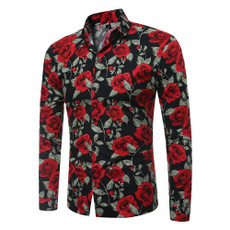 blouse, men shirt, Flowers, England