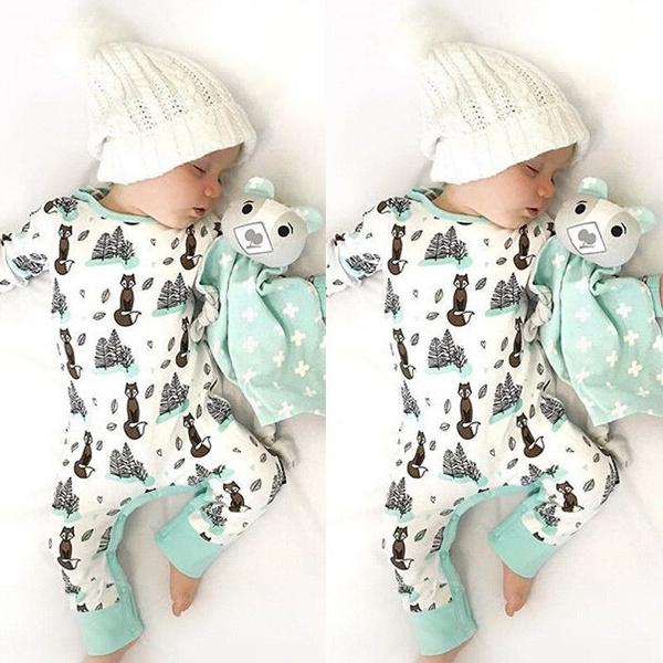 Fashion, Cotton, babyboyromper, babylongsleeveromper