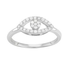 Sterling, Cubic Zirconia, eye, Jewelry