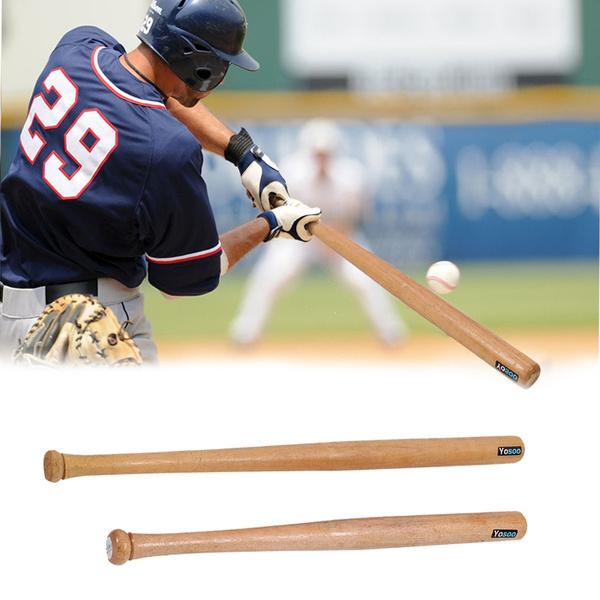 Outdoor//Indoor Sport Wood Baseball Bats Self Defense Softball Bat 60cm Biuzi Wood Baseball Bat