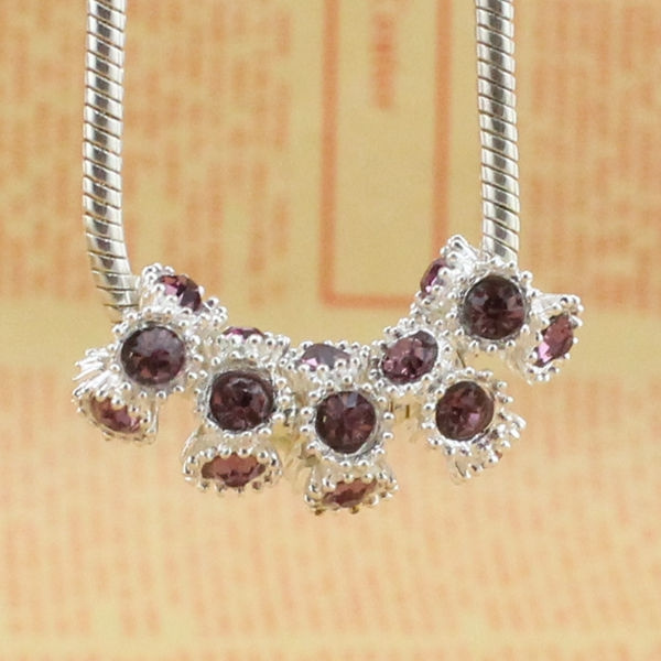 Charm Bracelet, 925 sterling silver, Crystal, jewelrycharm
