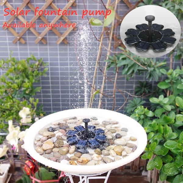 birdbathsandwaterer, Solar, fountainwaterpump, solarfountain