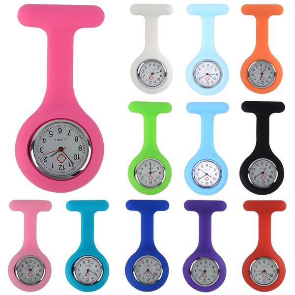 Pocket, dial, quartz, silicone watch