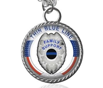Blues, glassartjewelry, Police, Jewelry
