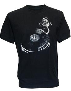 Mens T Shirt, Cotton T Shirt, turntable, musictshirt