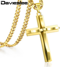 Steel, Stainless Steel, Christian, Cross necklace