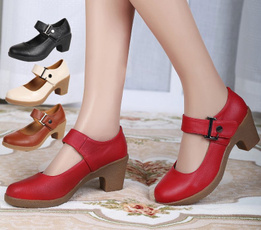 wedge, Fashion, leather shoes, Womens Shoes