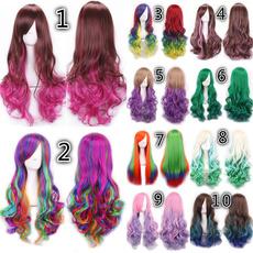 wig, hair, rainbow, Cosplay