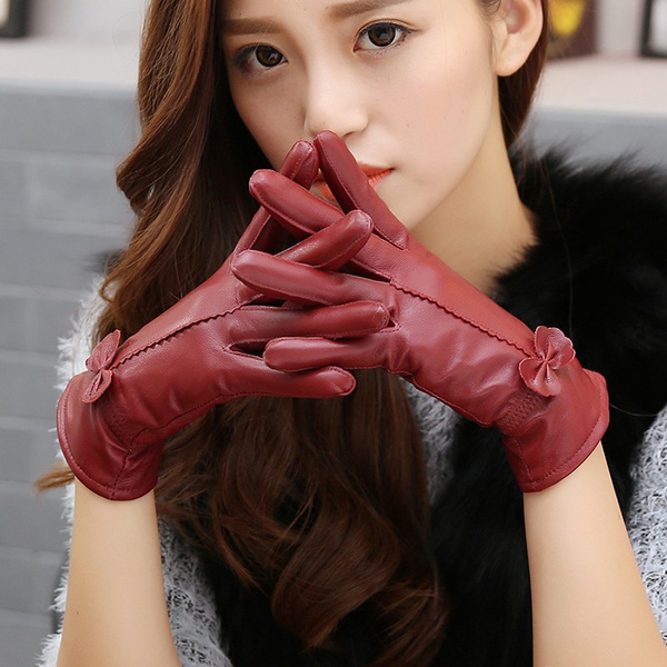 Winter, genuineleathergloveswomenswinter, leather, Gloves