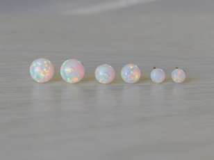 opalearring, Jewelry, Stud Earring, opals