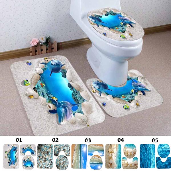 Bathroom, toiletmat, rugsandmat, dolphin