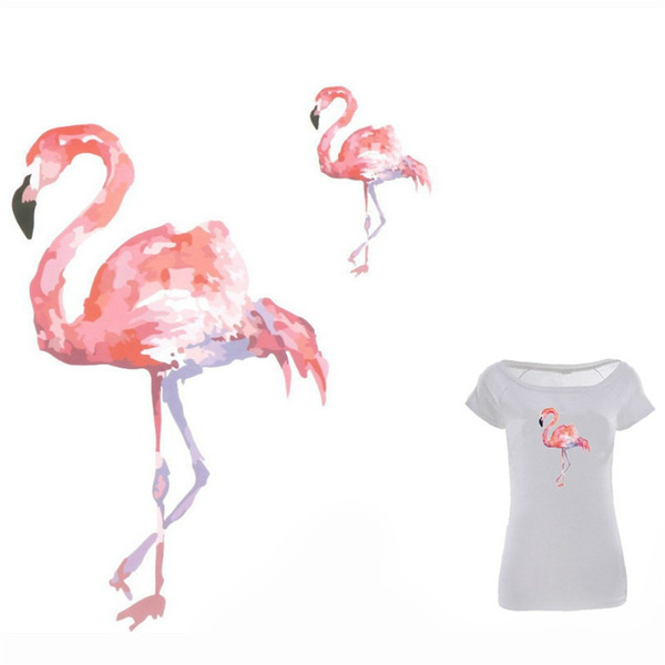 cute, flamingo, clothesfabric, badgepatche