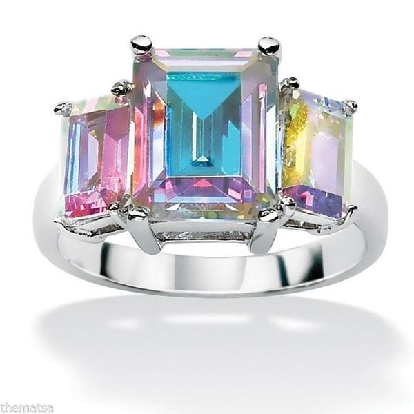Wedding, DIAMOND, 925 sterling silver, wedding ring