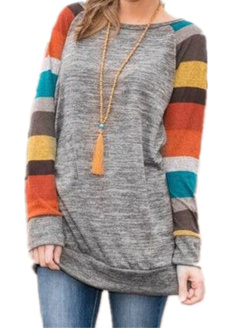 Plus Size, long sleeve blouse, Sleeve, tunic top