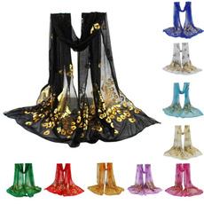 women scarf, embroideryfabric, ladyscarf, peacoakscarf