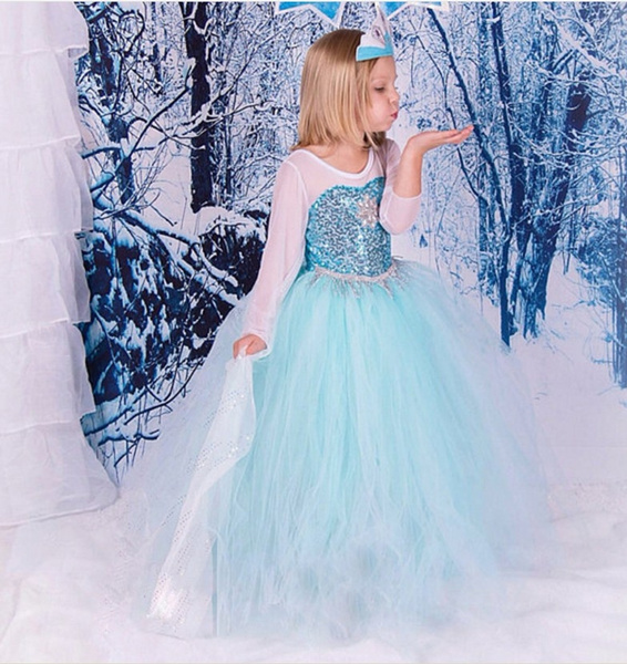 girlscostume, Cosplay, Princess, elsa dress