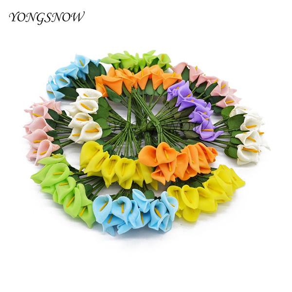 foamflower, callalily, Decor, Flowers