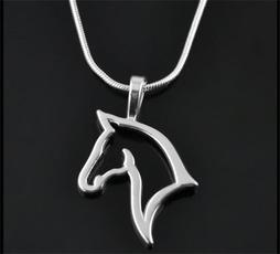horse, cutenecklace, womenneckkace, horseheadshaped