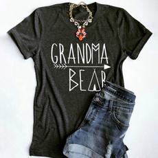 cute, Shorts, Sleeve, letter print
