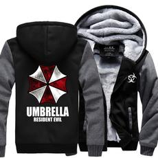 Thicken, Fleece, hooded, Umbrella