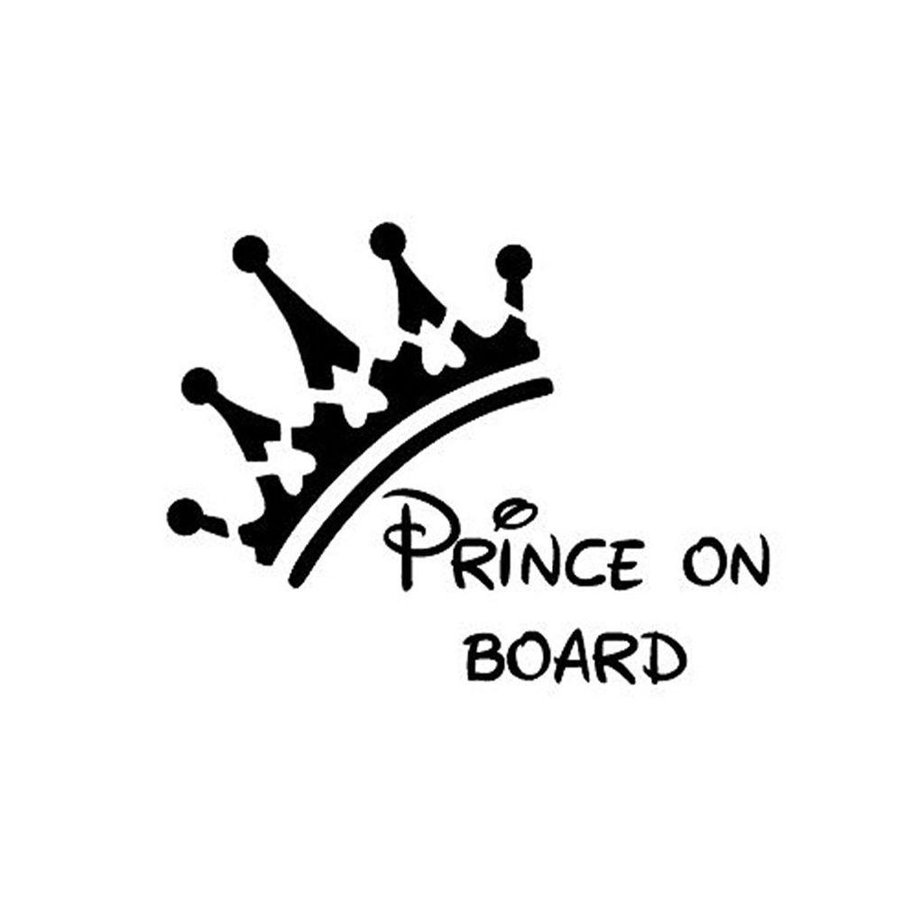 PRINCESS and PRINCE ON BOARD SIGN 15X15 CM
