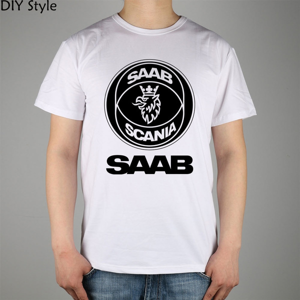 Mens T Shirt, saabscania, Fashion, Summer