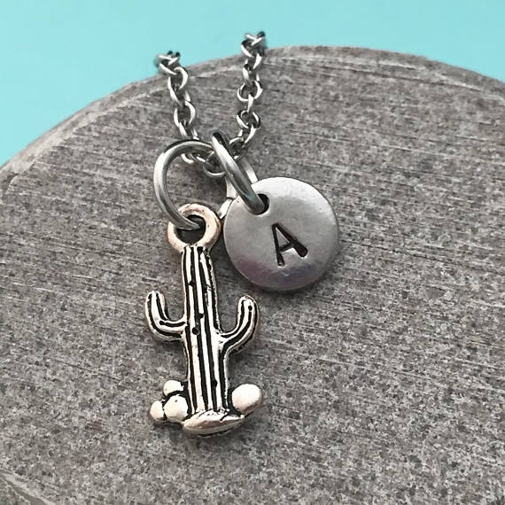 monogram, Chain Necklace, Jewelry, initial