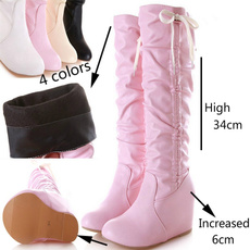 wedge, Fashion, Winter, long boots