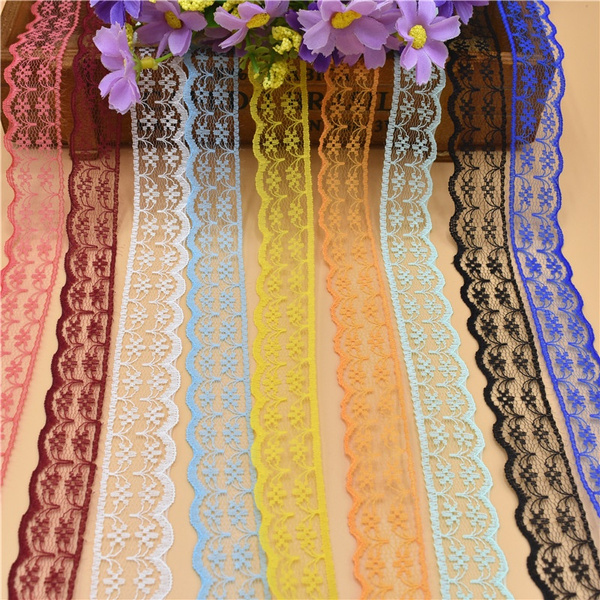Beautiful, lace trim, weddingveil, handicraft