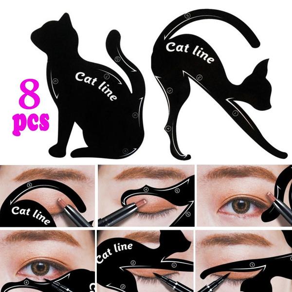 cateyeliner, stencil, eye, Beauty