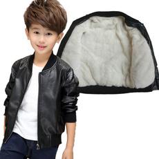 Jacket, leatherjacketsforboy, Winter, kidsleathercoat