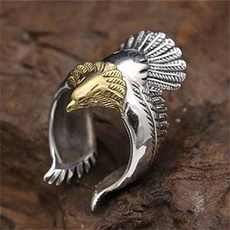 Steel, eaglering, Jewelry, retro ring