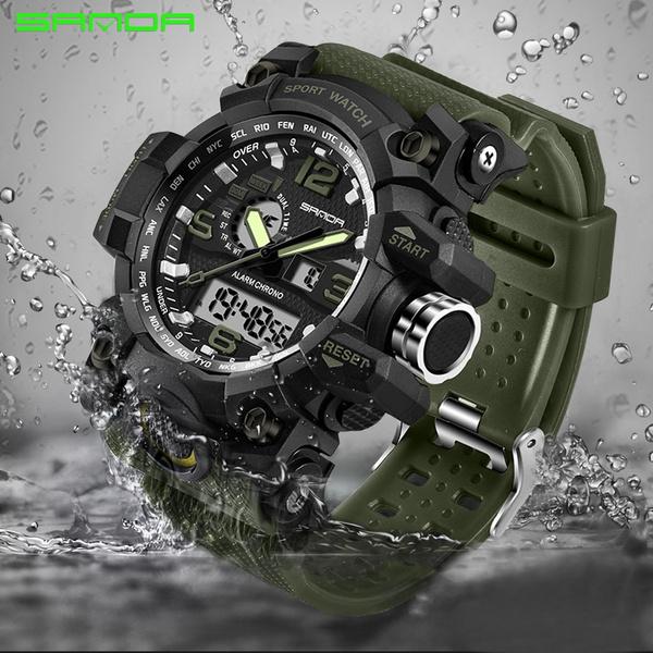 waterproofsportswatch, Outdoor, led, sandawatch
