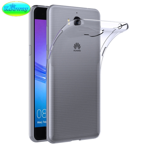 Premium Clear TPU Coque for Huawei Y6 2017 MYA-L11 MYA-L41 Case Anti-poussière Silicone Housse for Huawei Y5 2017 MYA-L02 MYA-L03 MYA-L22 MYA-L23 ...