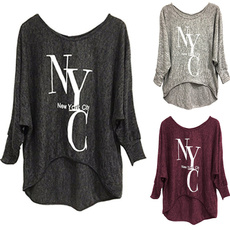 Plus Size, Shirt, letter print, New York