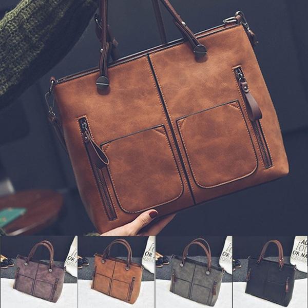 Shoulder Bags, Bags, leather, Satchel bag