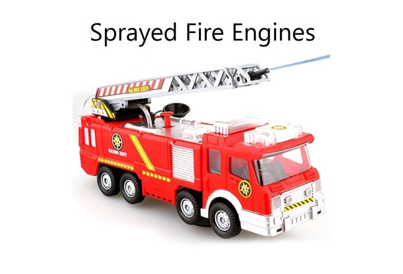Toy Car for Boys Fire Truck Kid Car w// Led Light Musical Toddler Chiristmas Gift