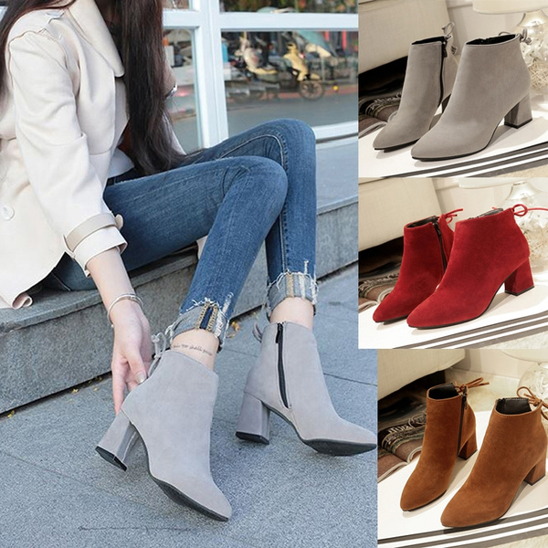 ankle boots, Fashion, leather, short boots
